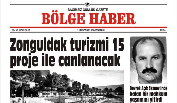 14 NİSAN 2018 BÖLGE HABER GAZETESİ SABAH BAYİLERDE...