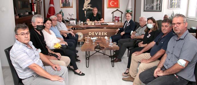BAŞKAN BOZKURT, CHP'Lİ YÖNETİCİLERİ AĞIRLADI