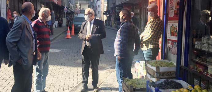 BAŞKAN BOZKURT ESNAFI ZİYARET ETTİ