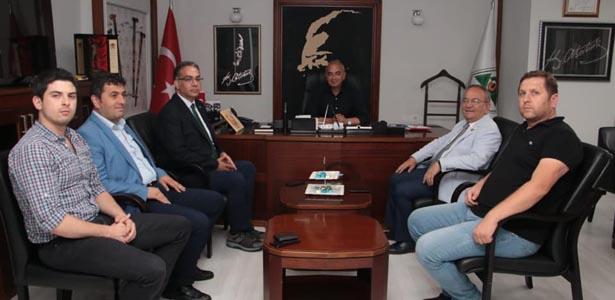 BAŞKANLAR BAŞKAN BOZKURT'U ZİYARET ETTİ