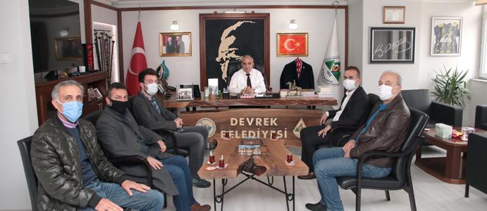 CHP ÇAYDEĞİRMENİ BELDE BAŞKANINDAN BAŞKAN BOZKURT'A ZİYARET