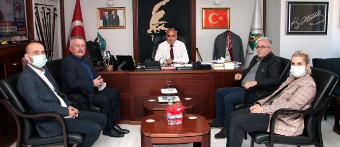 CHP İL BAŞKANI PULAT, BAŞKAN BOZKURT'U ZİYARET ETTİ