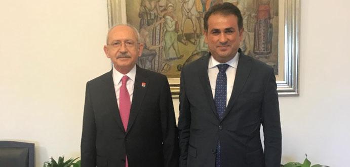 CHP LİDERİ KILIÇDAROĞLU, ÜNAL DEMİRTAŞ'I KABUL ETTİ