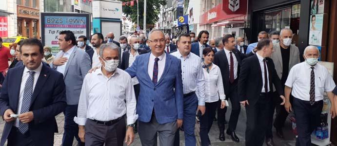 CHP'Lİ VEKİLLER ZONGULDAK'I GEZİYOR