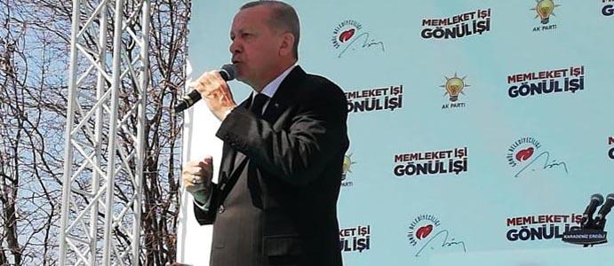 CUMHURBAŞKANI ERDOĞAN EREĞLİ'DE HALKA SESLENDİ