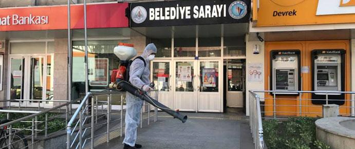 DEVREK, DEZENFEKTE EDİLİYOR
