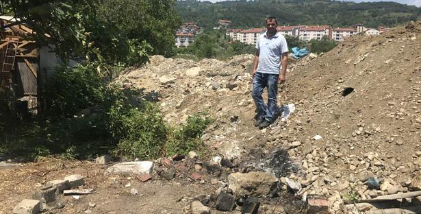 DEVREK'TE BAŞPINAR İNŞAAT'A MOLOZ TEPKİSİ