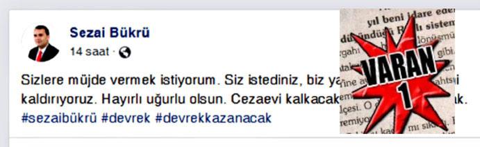 """DEVREK'TE """"YALAN"""" RÜZGARLARI ESİYOR"""