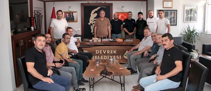 ESNAFTAN BOZKURT'A TEŞEKKÜR ZİYARETİ