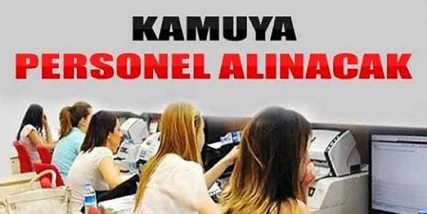 KAMUYA 110 BİN PERSONEL ALINACAK