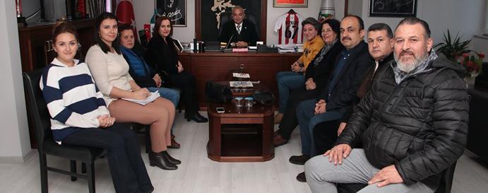 KENT KONSEYİ'NDEN BAŞKAN BOZKURT'A ZİYARET