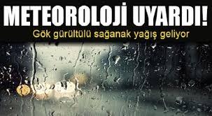 METEOROLOJİ'DEN GÖK GÜRÜLTÜLÜ VE SAĞANAK YAĞIŞ UYARISI...