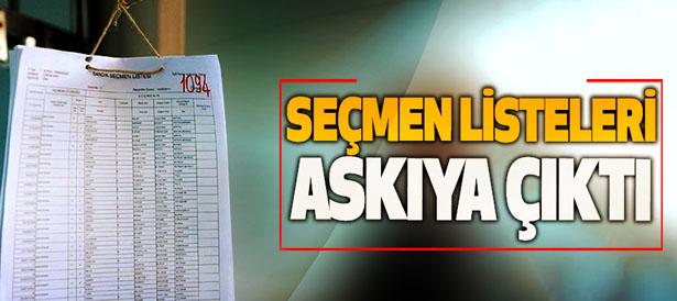 SEÇMEN KAĞITLARI MUHTARLIKLARA GELDİ!..