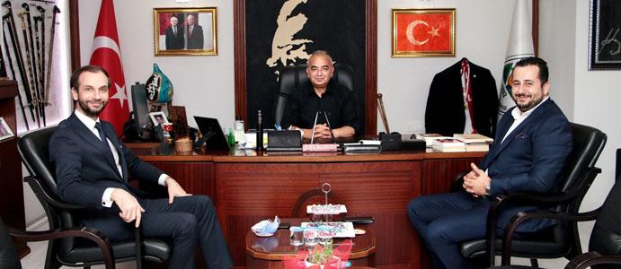 SEZGİN KAYA, BAŞKAN BOZKURT'U ZİYARET ETTİ