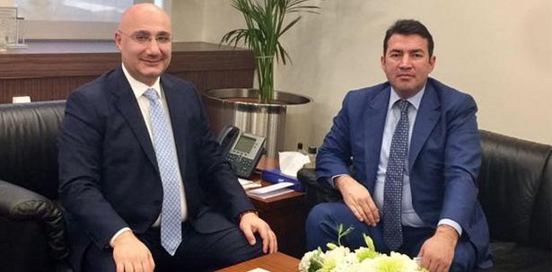 ULUPINAR, HALK BANKASI GENEL MÜDÜRÜ ARSLAN'I ZİYARET ETTİ