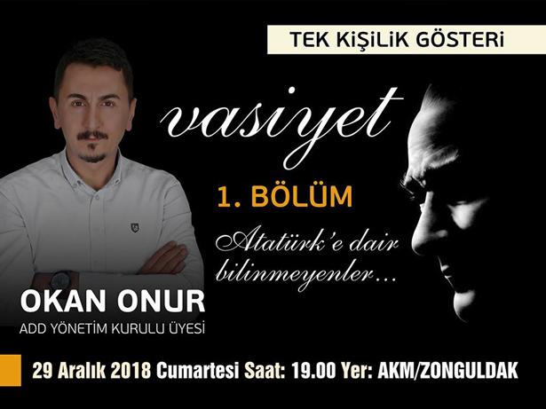 """""""VASİYET"""" 29 ARALIK'TA SAHNEDE"""