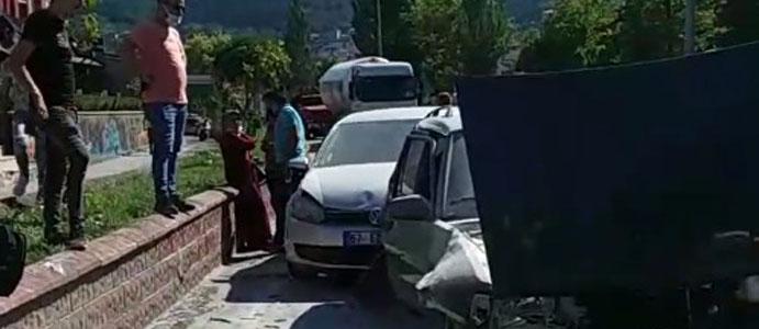 DEVREK'TE KAZA MEYDANA GELDİ
