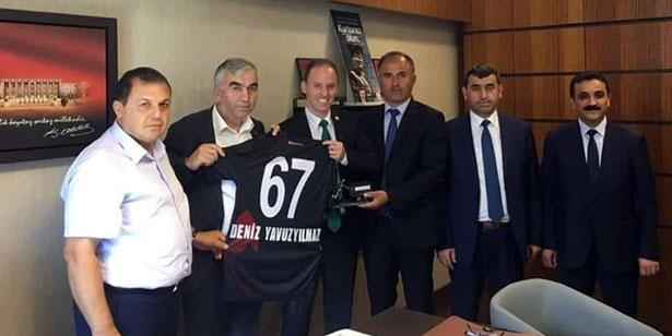 GMİS YAVUZYILMAZ'I ZİYARET ETTİ, HAYIRLI OLSUN DEDİ