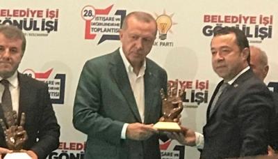 CUMHURBAŞKANI, SATILMIŞ GEBEŞ'İ ÖDÜLLENDİRDİ