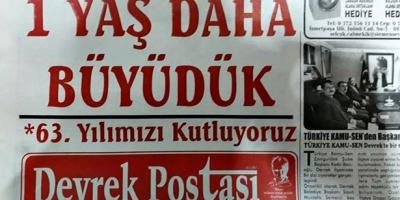 DEVREK POSTASI GAZETESİ 63 YAŞINDA