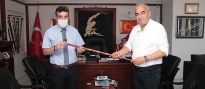 VAKIFLAR BÖLGE MÜDÜRÜ PINAR, BAŞKAN BOZKURT'U ZİYARET ETTİ
