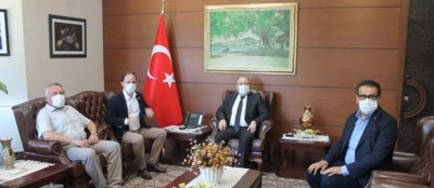 VEKİLLER VALİ TUTULMAZ'I ZİYARET ETTİ